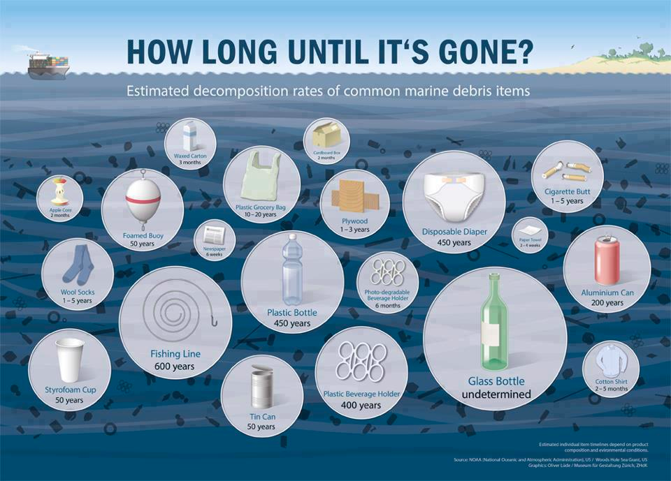 Oceans of garbage— does plastic ever die