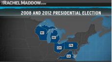 Five states— Wisconsin, Michigan, Virginia, Ohio and Pennsylvania— twice voted for Obama.