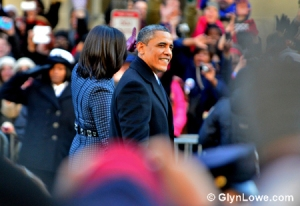 President Barack Obama and First Lady Michelle Obama at Second Inaugural