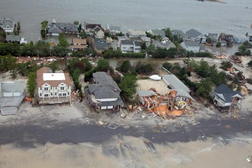 Long Beach Island, NJ, after Hurricane Sandy 2012