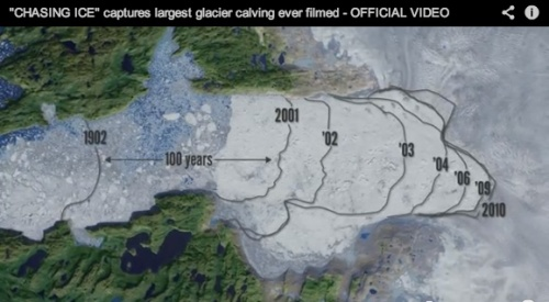 The glacier lost more in 10 years than in the previous 100