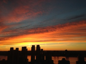 September sunset, Upper West Side of Manhattan