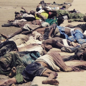 Victims of the massacre in Nigeria by Boko Haram