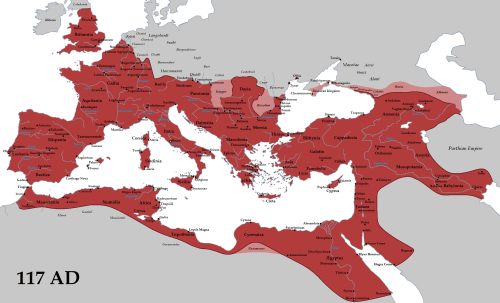 The Roman Empire in 117 BCE (Wikipedia)