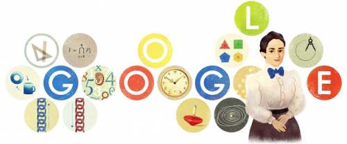Emmy Noether's Google Doodle