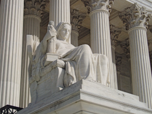 Contemplation of Justice, North side of Supreme Court