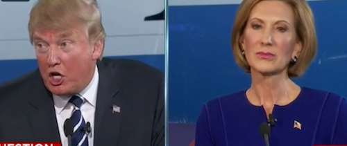 Carly Fiorina is unmoved as Trump invents excuse for his disparaging remarks