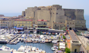 Castel dell'Ovo and its little port at Santa Lucia