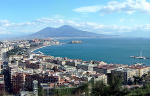 Bay of Naples with Castel dell'Ovo and Vesuvius