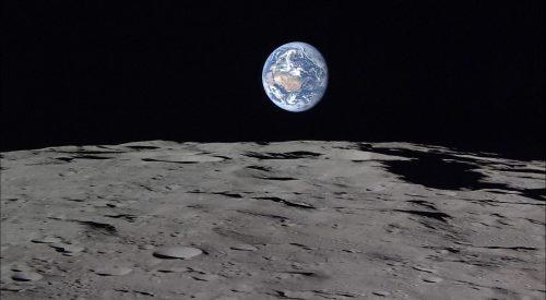 by Japan's Aerospace Exploration Agency (JAXA). Taken by the Kaguya lunar orbiter