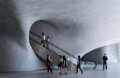 The Broad museum's lobby; photo by Iwan Baan; courtesy of The Broad and Diller Scofidio + Renfro